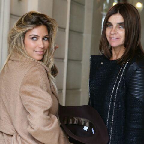 Photos – Kim et Kanye retrouvent Carine Roitfeld à Paris