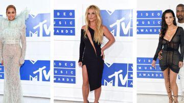 Beyoncé, Britney Spears et Kim Kardashian sur le tapis rouge des MTV Video Music Awards