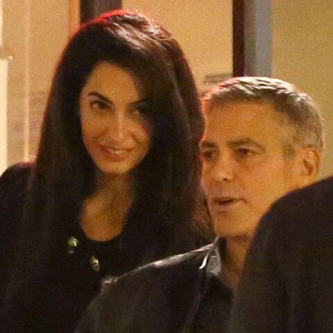George Clooney et Amal Alamuddin à table avec les parents