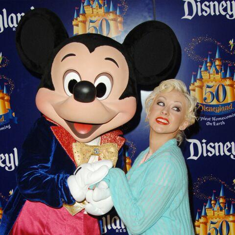 Christina Aguilera boudée par Mickey
