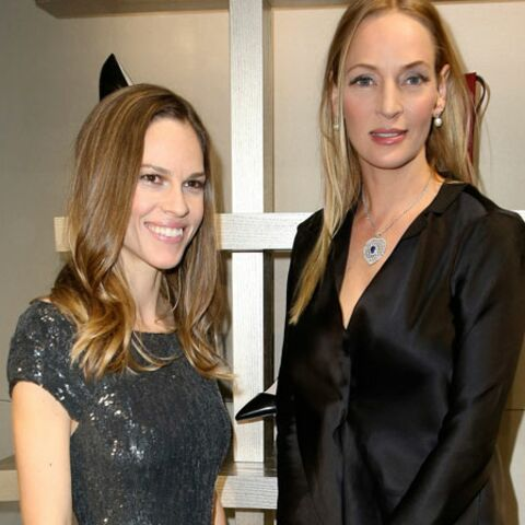 Gala By Night: soirée entre copines pour Hilary Swank et Uma Thurman