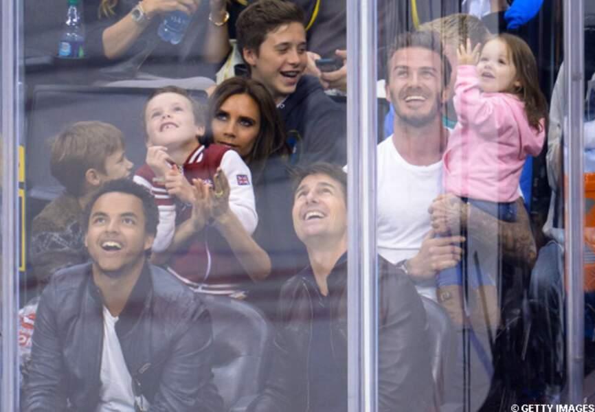 Tom Cruise et la famille Beckham