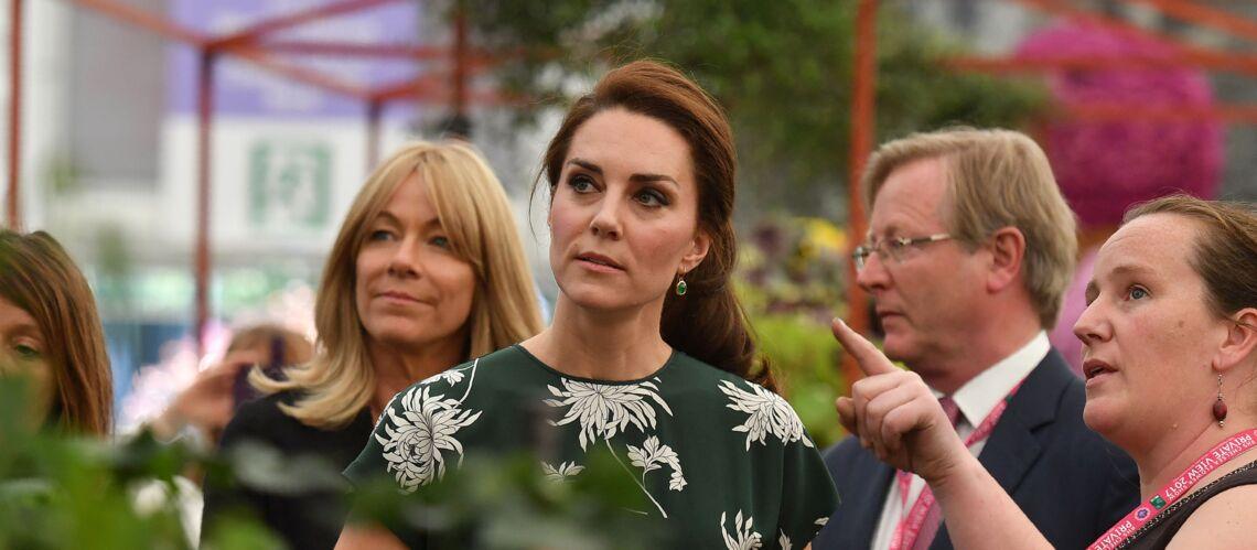 PHOTOS – Kate Middleton printanière dans sa première robe griffée Rochas