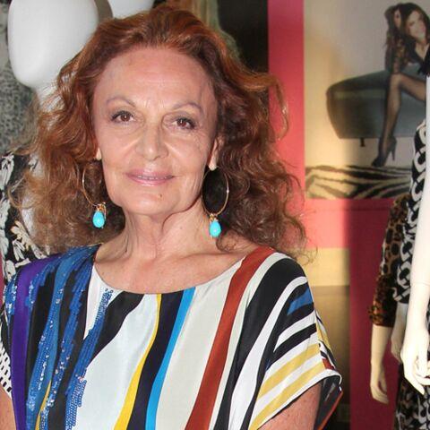 Diane Von Furstenberg, en fête aux Galeries Lafayette