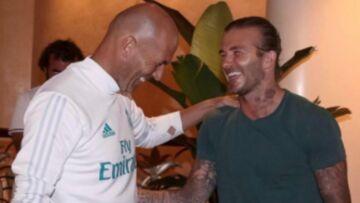 PHOTOS – L'incroyable fou rire de David Beckham et Zinédine Zidane, Rihanna met le feu avec son décolleté XXL, Nikos Aliagas barbu et sexy… Hot, insolite ou drôle, la semaine des stars en images