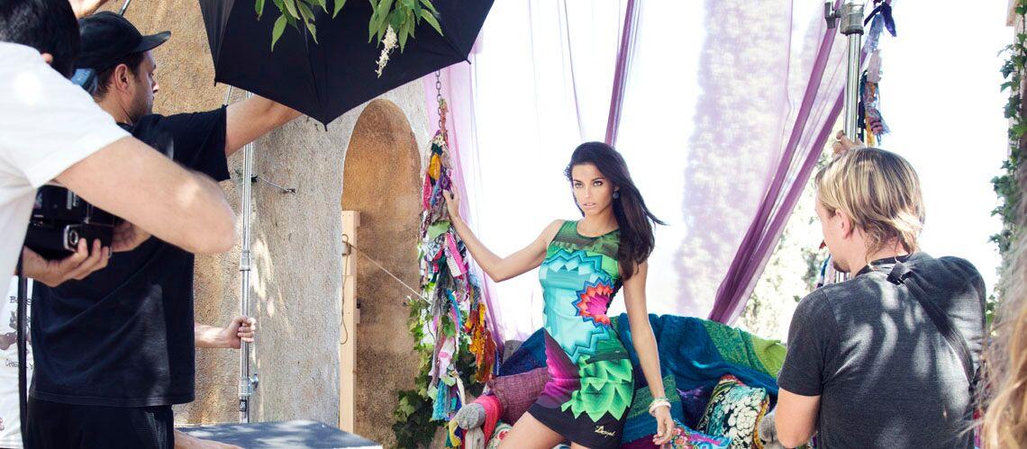 Photos – Adriana Lima pour Desigual, le making-of