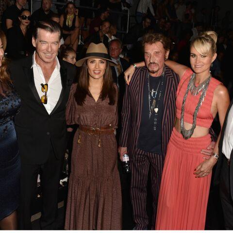 Johnny et Laeticia Hallyday bien entourés à la fashion week parisienne