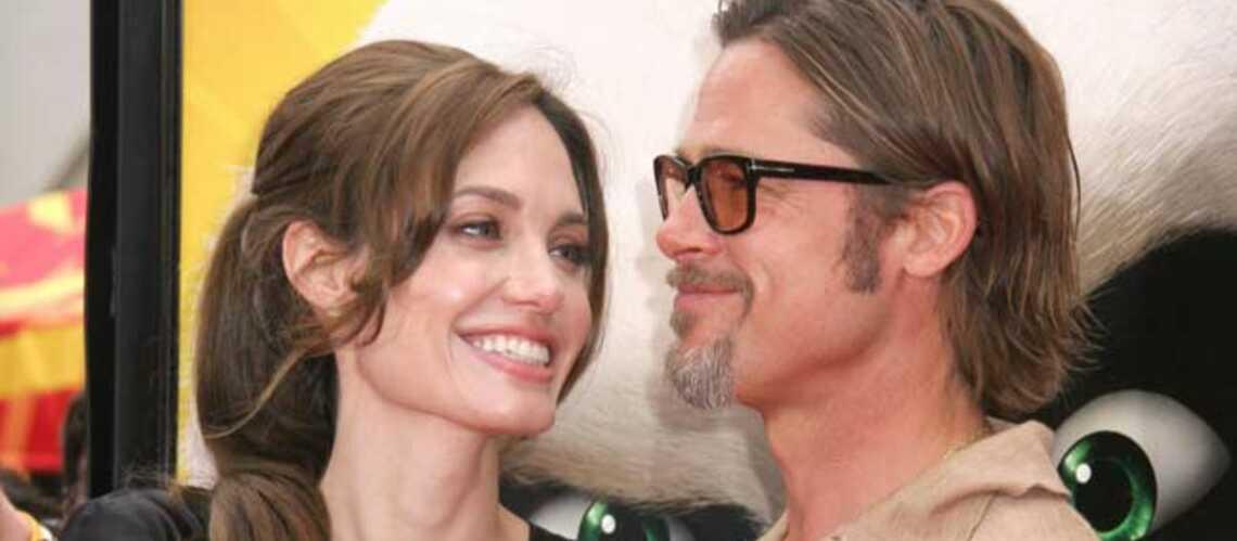 Angelina Jolie aux côtés de son fiancé pour World War Z