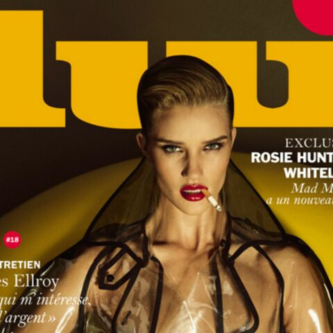 Rosie Huntington-Whiteley fatale en couverture de Lui