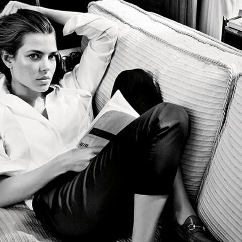 Charlotte Casiraghi casual pour Gucci