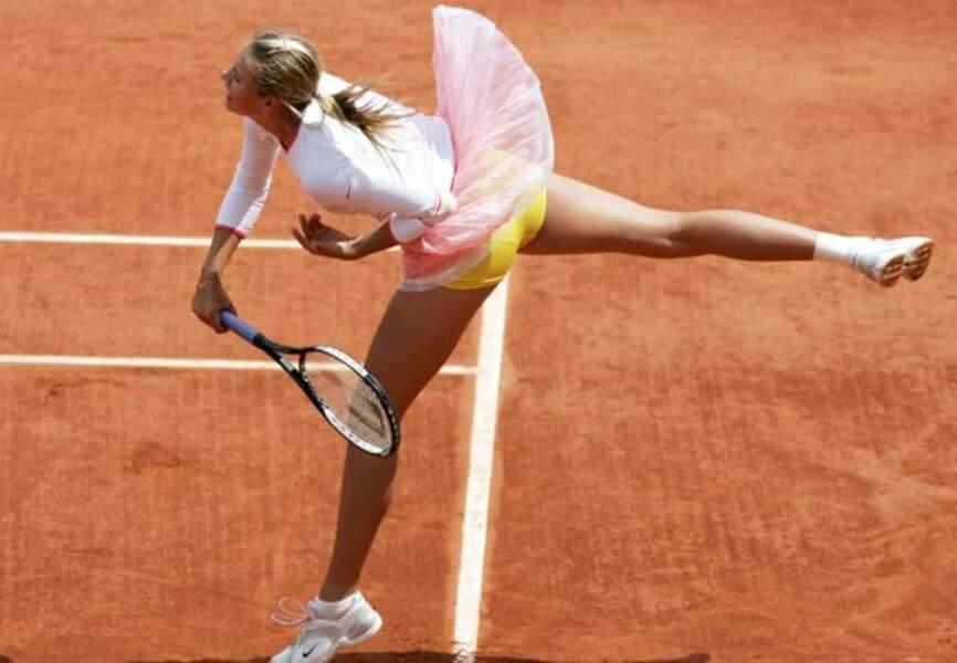 Maria Sharapova (2012) la grace d'une danseuse en 2006