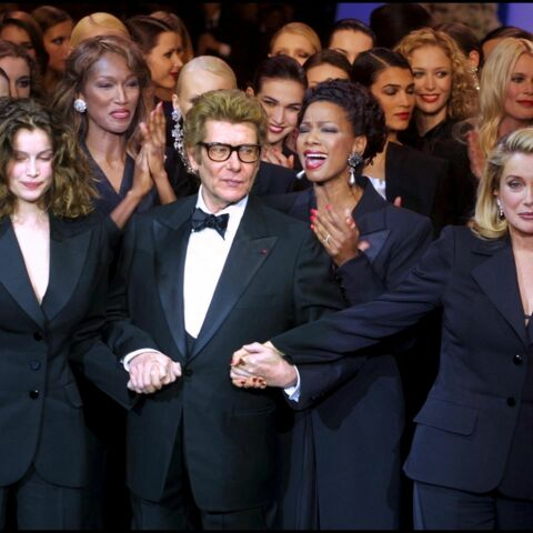 Laetitia Casta, Catherine Deneuve, toutes en smoking Saint Laurent