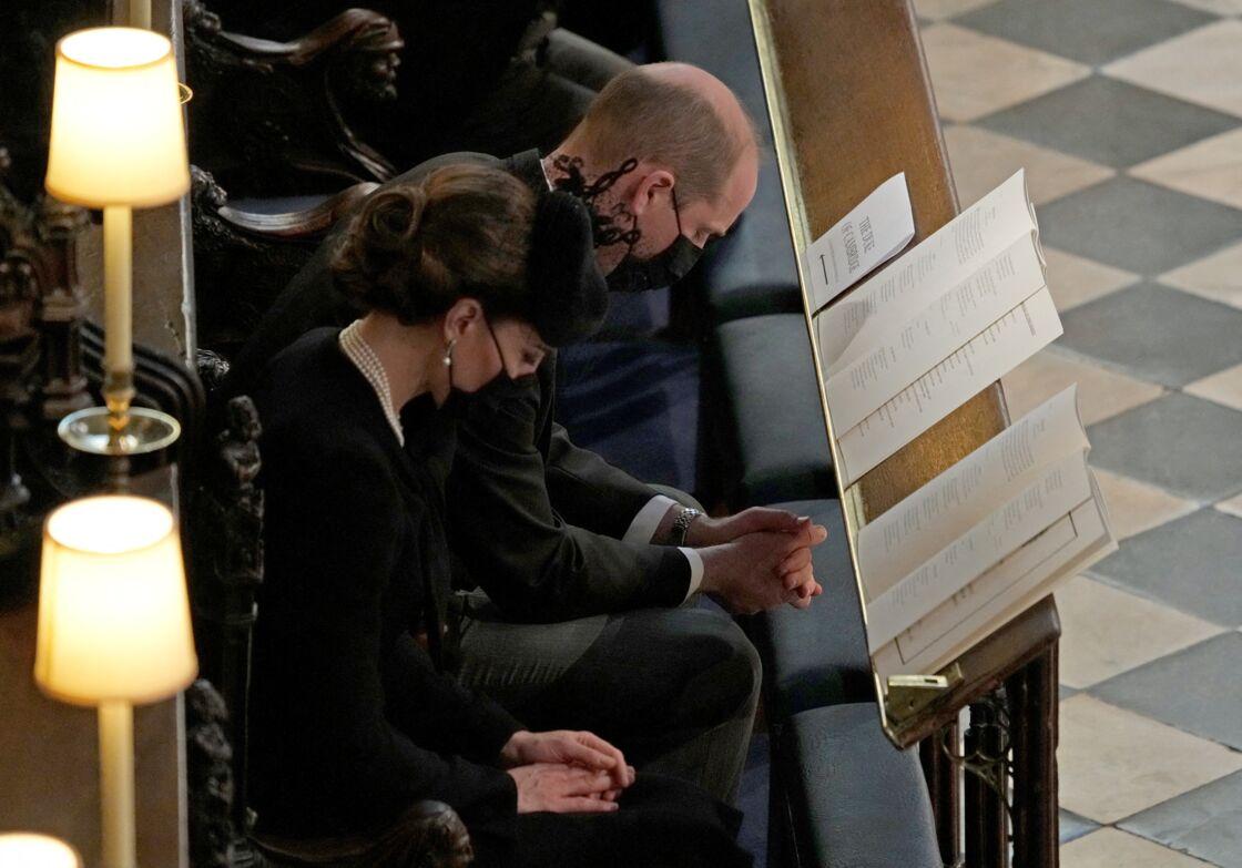 Kate Middleton et William lors des obsèques du prince Philip à la chapelle Saint-George