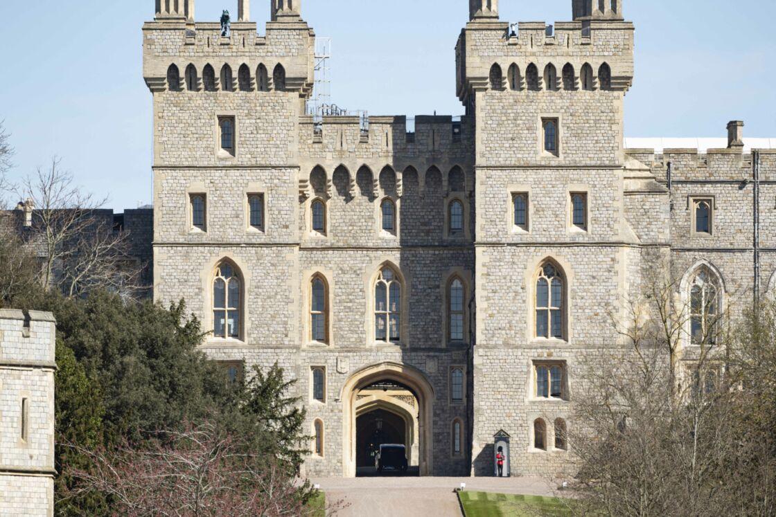 Vue du château de Windsor avant les funérailles du prince Philip, le 17 avril 2021