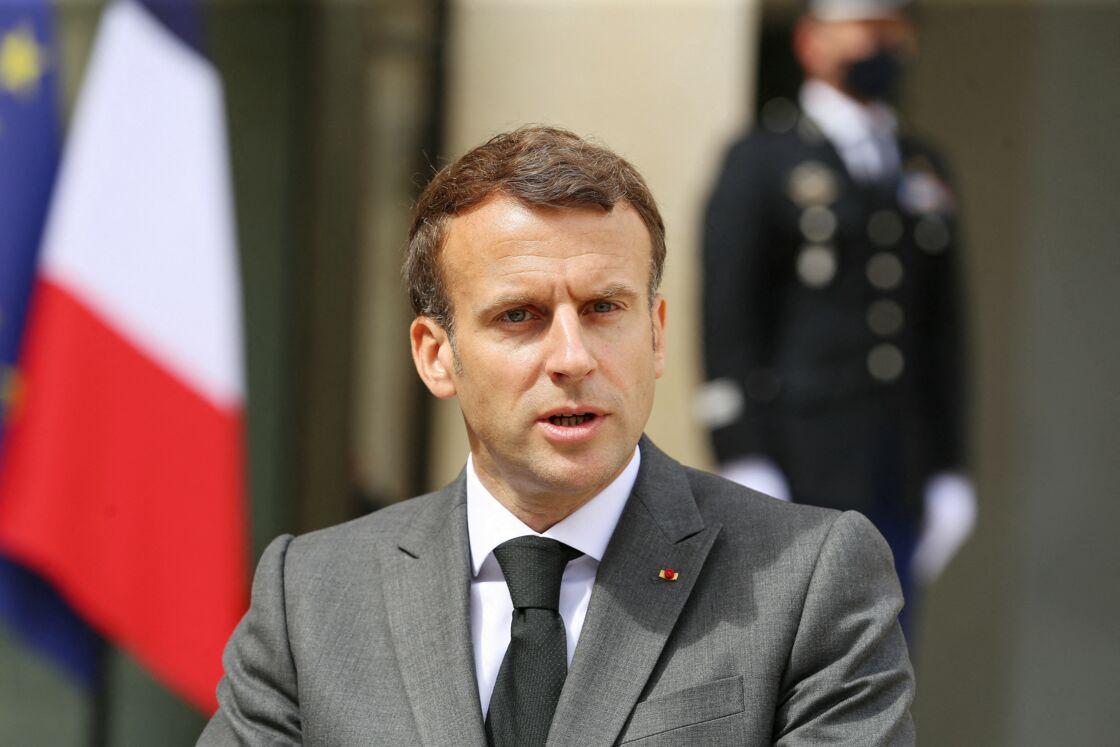 Le président Emmanuel Macron reçoit Nikol Pashinyan, premier ministre par intérim de la République d?Arménie au palais de l'Elysée à Paris le 1er juin 2021.