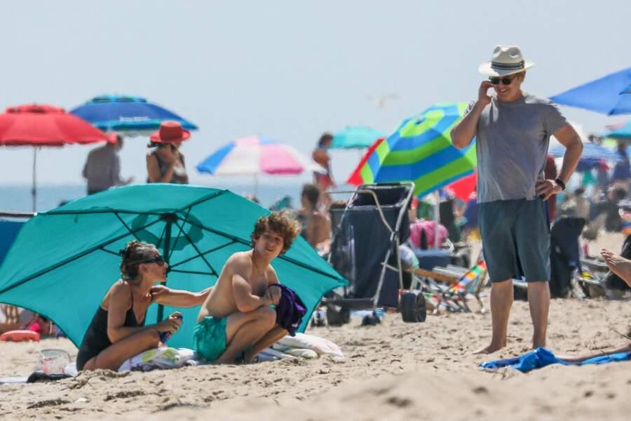 Sarah Jessica Parker et son mari Matthew Broderick à la plage