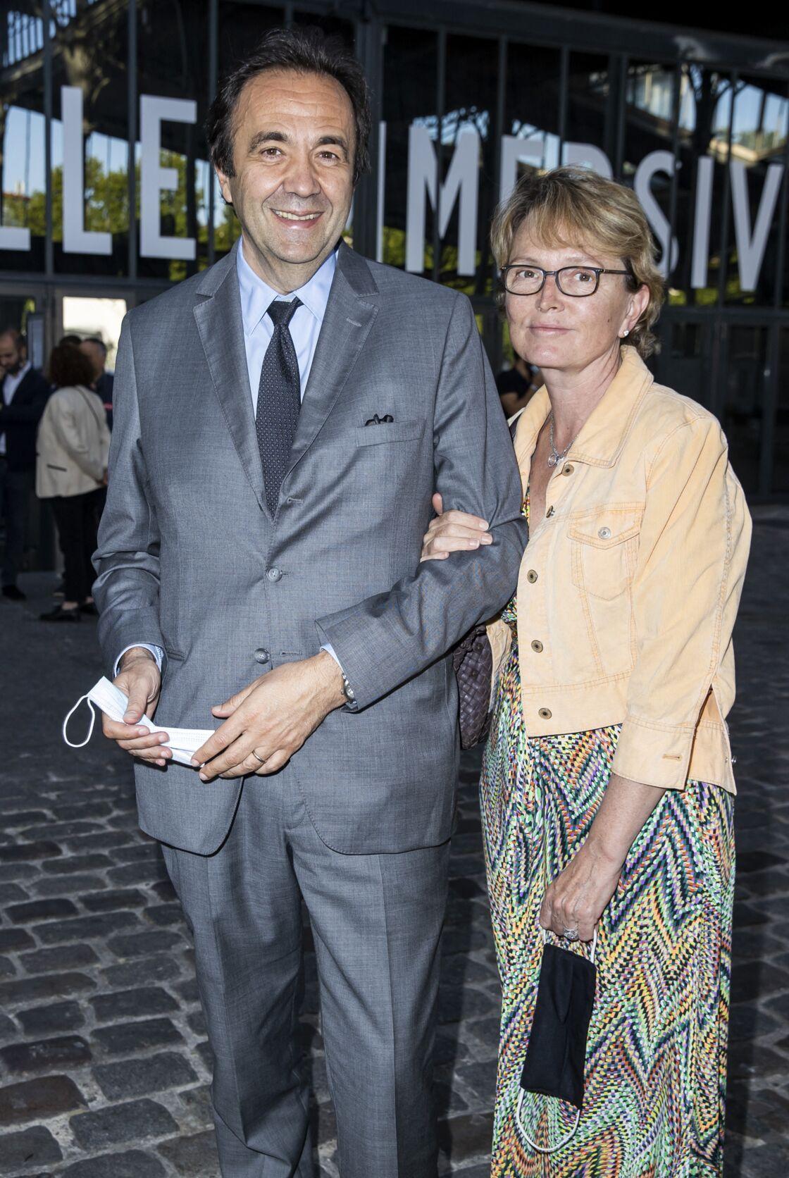 Claude Chirac et son mari Frédéric Salat-Baroux, à la Villette à Paris, le 22 juin 2020.