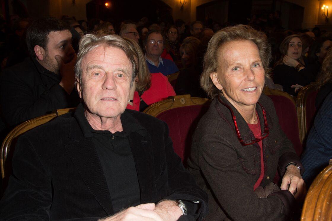 Bernard Kouchner et Christine Ockrent au théâtre Edouard VII à Paris, le 12 février 2018