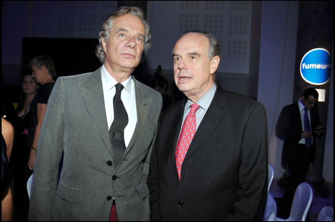 Jean-Gabriel et Frédéric Mitterrand au bal Jaune de Ricard à Paris, le 22 octobre 2010