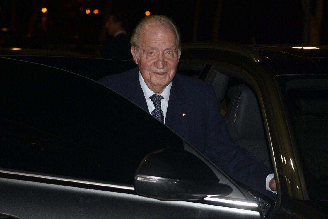 Juan Carlos aux obsèques de l'homme d'affaires mexicain Placido Arango à Madrid, le 17 février 2020