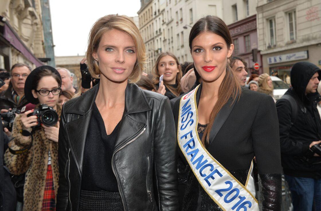 Sylvie Tellier et Iris Mittenaere au défilé Haute Couture Jean Paul Gaultier à Paris, le 27 janvier 2016