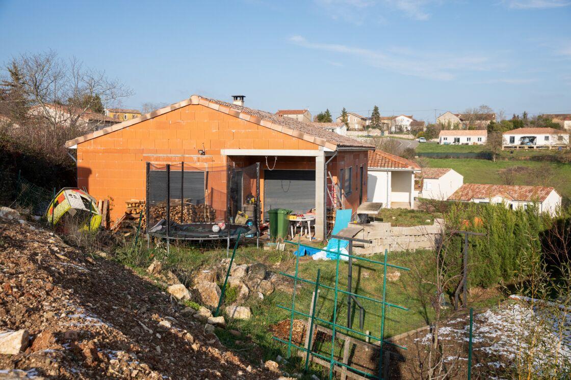 C'est dans cette maison en construction que vivait Delphine Jubillar, qui a disparu sans laisser de traces, à Cagnac-les-Mines (Tarn), le 16 décembre 2020.