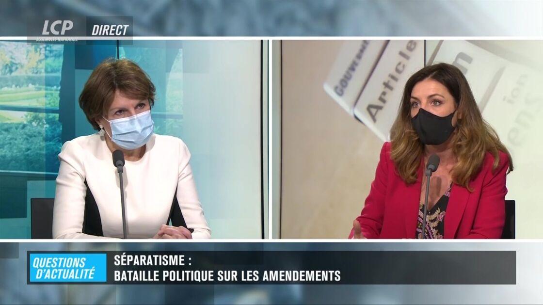 Annie Genevard, députée LR du Doubs, et Coralie Dubost, ce mardi 19 janvier sur LCP