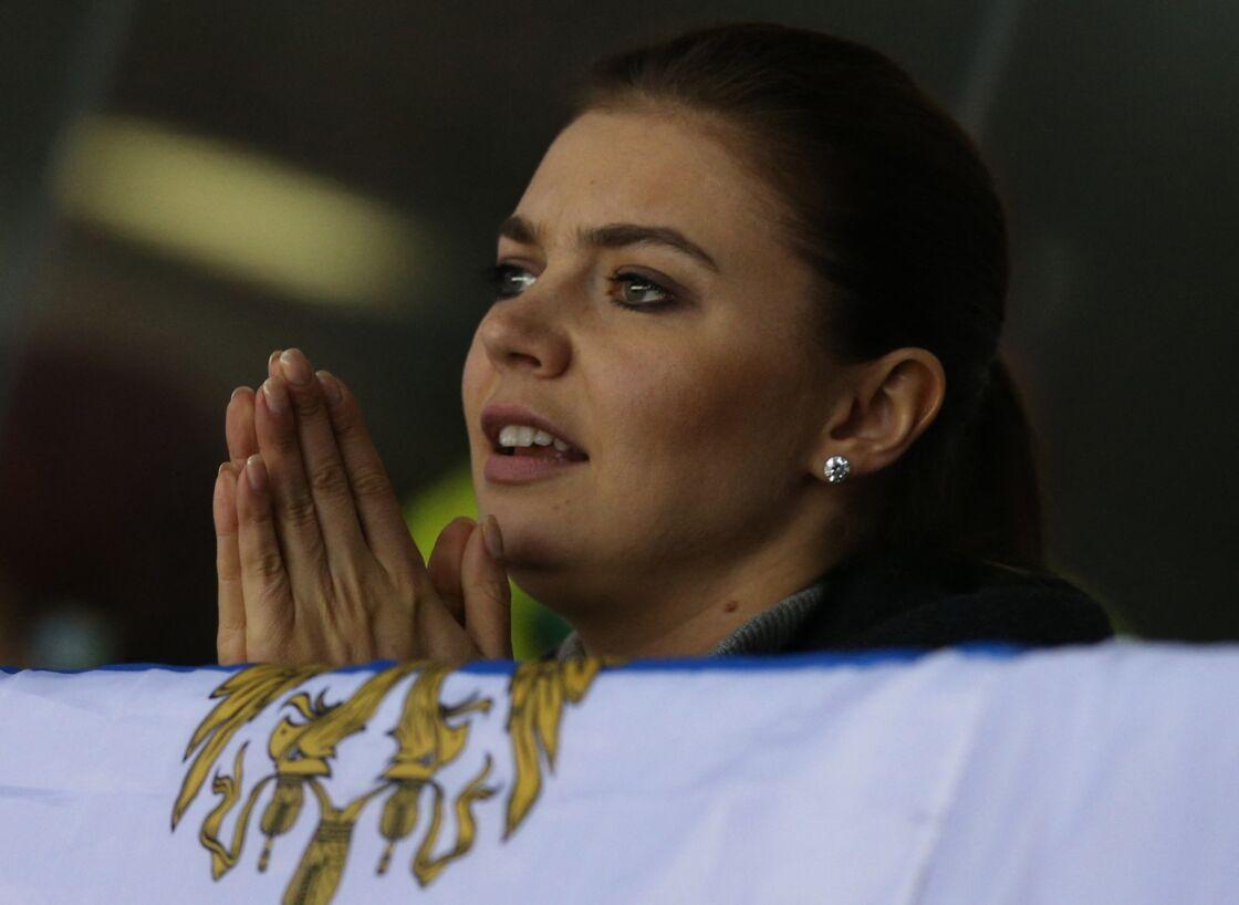 Alina Kabaeva au match de hockey sur glace entre la Russie et la Slovaquie au Bolchoi Ice Palace de Sotchi, le 16 février 2014