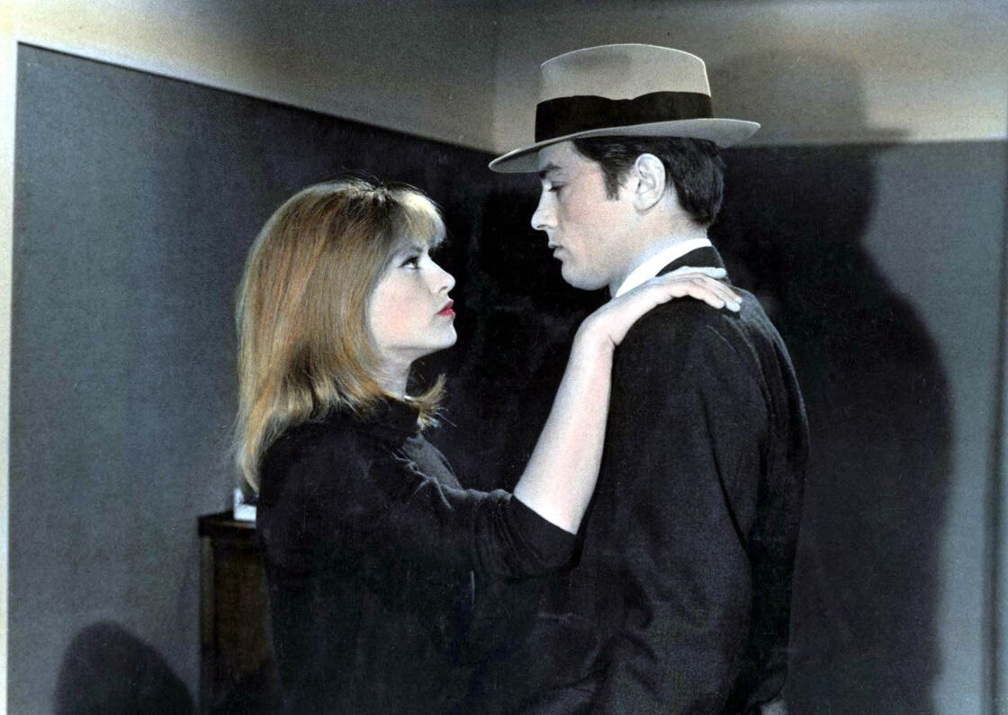 Nathalie et Alain Delon sur le tournage du film