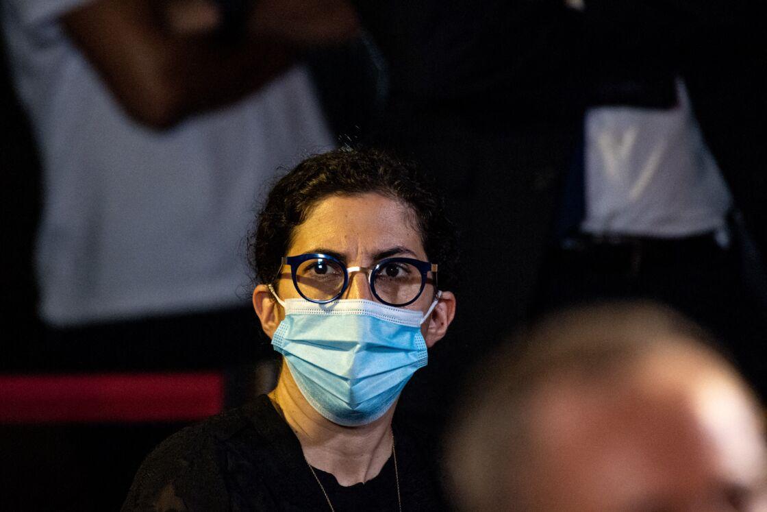 Rima Abdul-Malak lors d'une conférence de presse à Beyrouth au Liban, le 1er septembre 2020