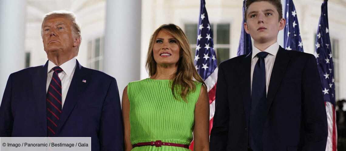Barron Trump toujours invisible : mais où était le fils de Donald et Melania lors de leurs adieux? - Gala
