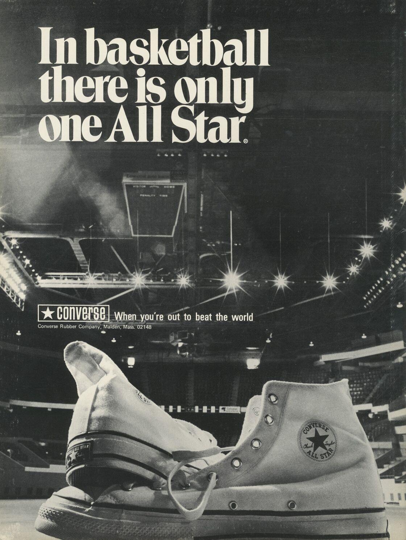 La Basket devient la All Star, Chuck Taylor. Publicité en 1968.