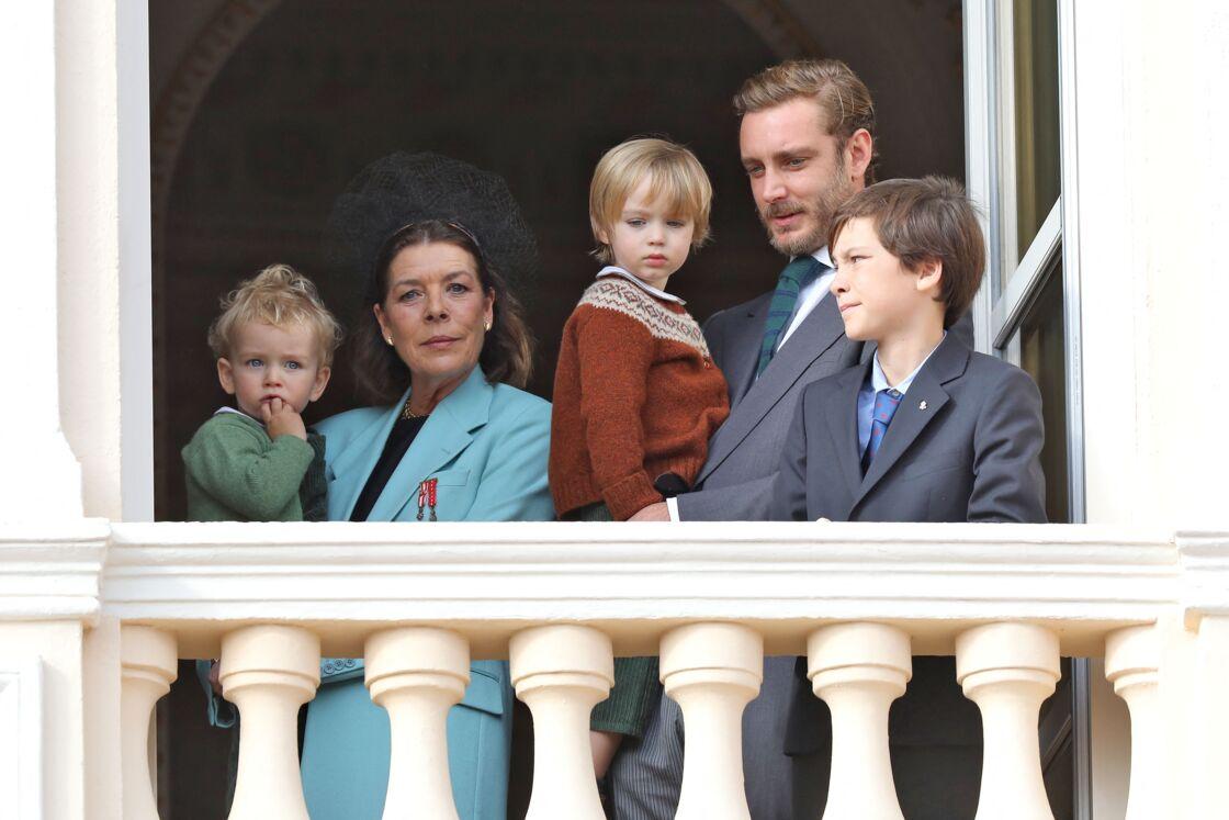 Caroline de Monaco et les fils de Pierre Casiraghi