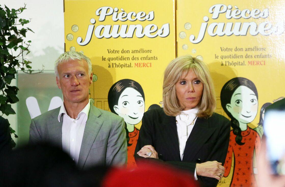 Brigitte Macron et Didier Deschamps sont engagés pour l'Opération Pièces Jaunes