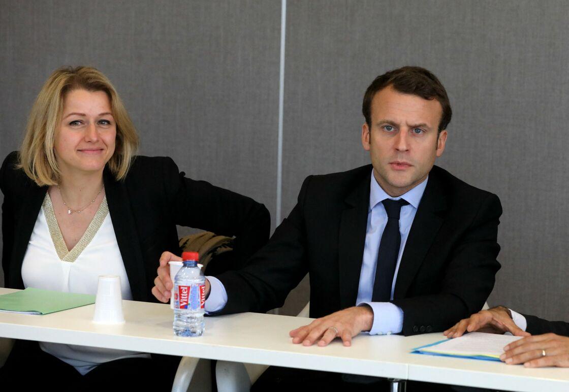 Barbara Pompili et Emmanuel Macron à Amiens le 26 avril 2017