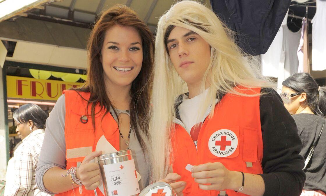 Jérémy Chapron et Sophie Tapie réunis pour la Croix Rouge Française, en 2009