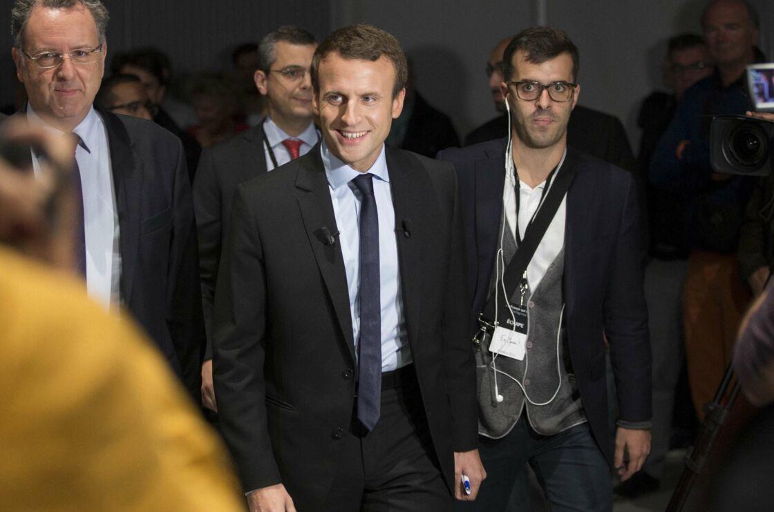 Emmanuel Macron et Ismaël Emelien, le 4 octobre 2016