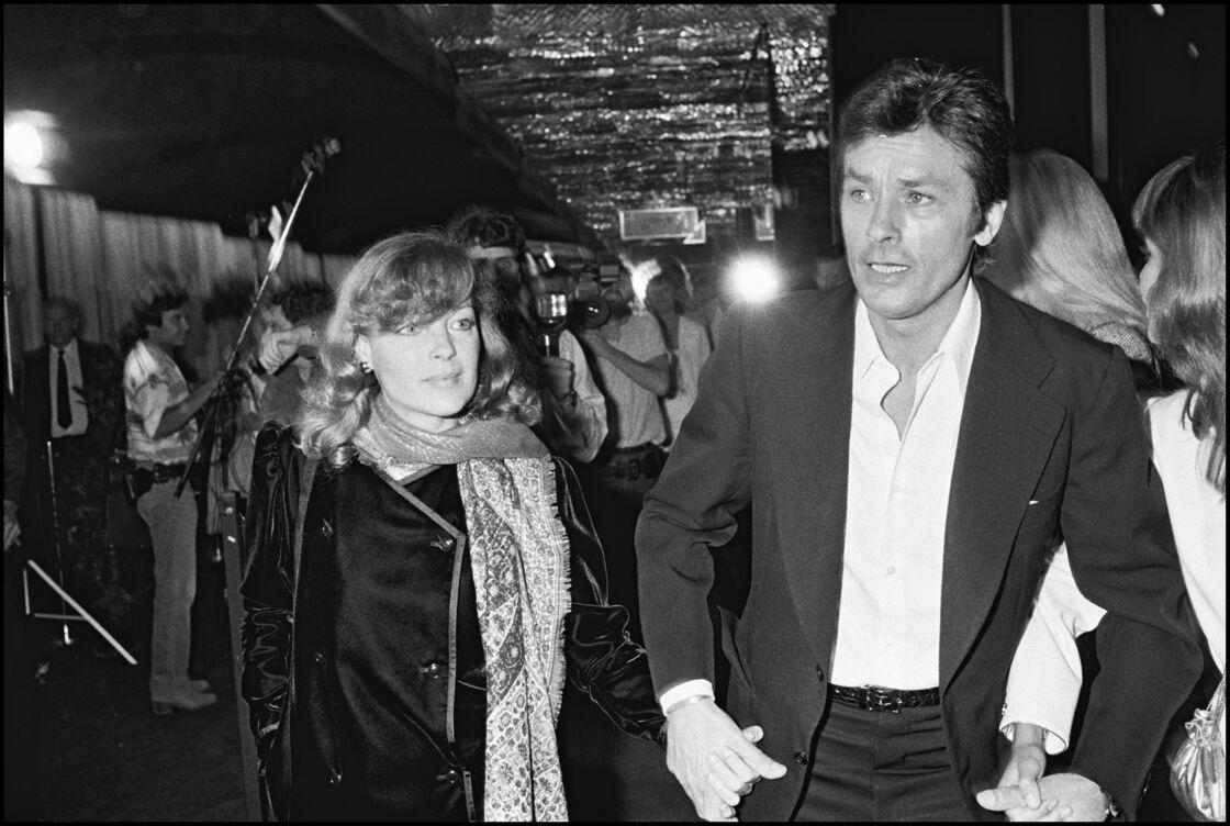 Romy Schneider et Alain Delon, en 1981, lors de la première du film