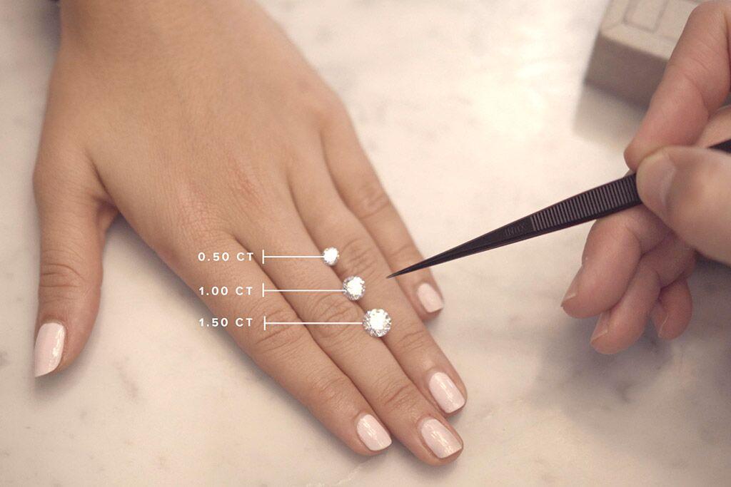 1 carat (pierre du milieu) pèse 0,20 grammes. Plus d'infos sur rdv sur www.amantys.fr