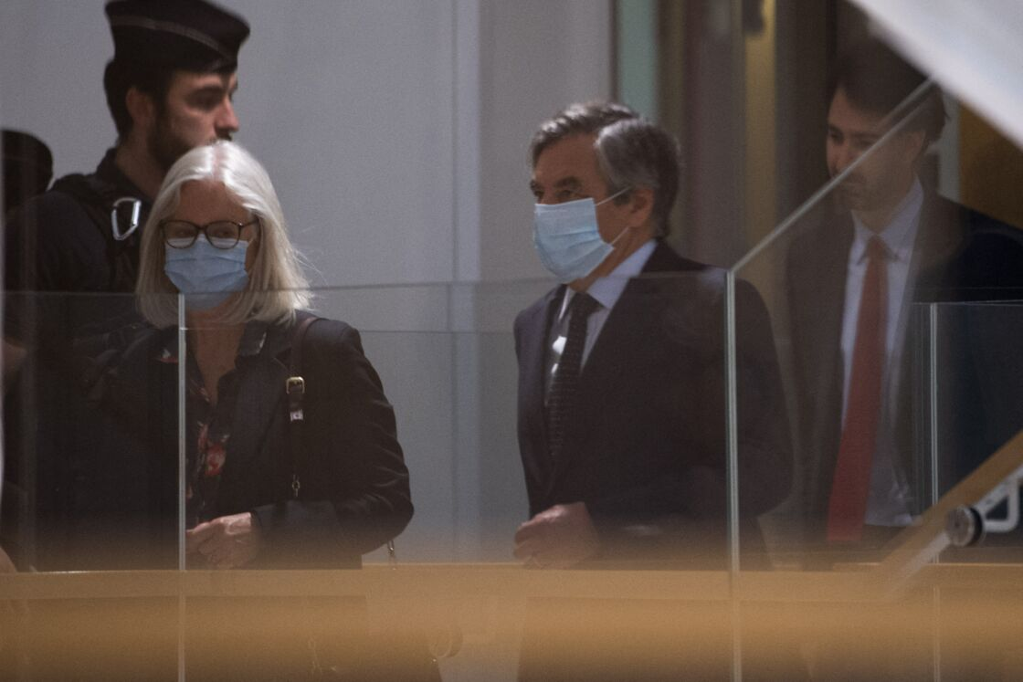 Penelope et François Fillon au tribunal correctionnel de Paris le 29 juin 2020
