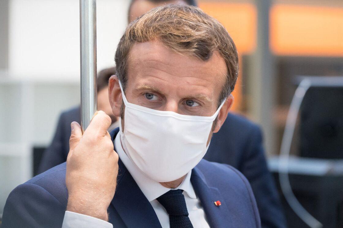 Emmanuel Macron le 8 septembre 2020 au lycée Roger Claustres à Aulnat