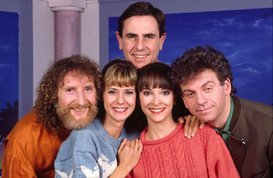 Dorothee, Ariane Carletti, François Corbier, Jacky et Patrick Simpson-Jones en 1989