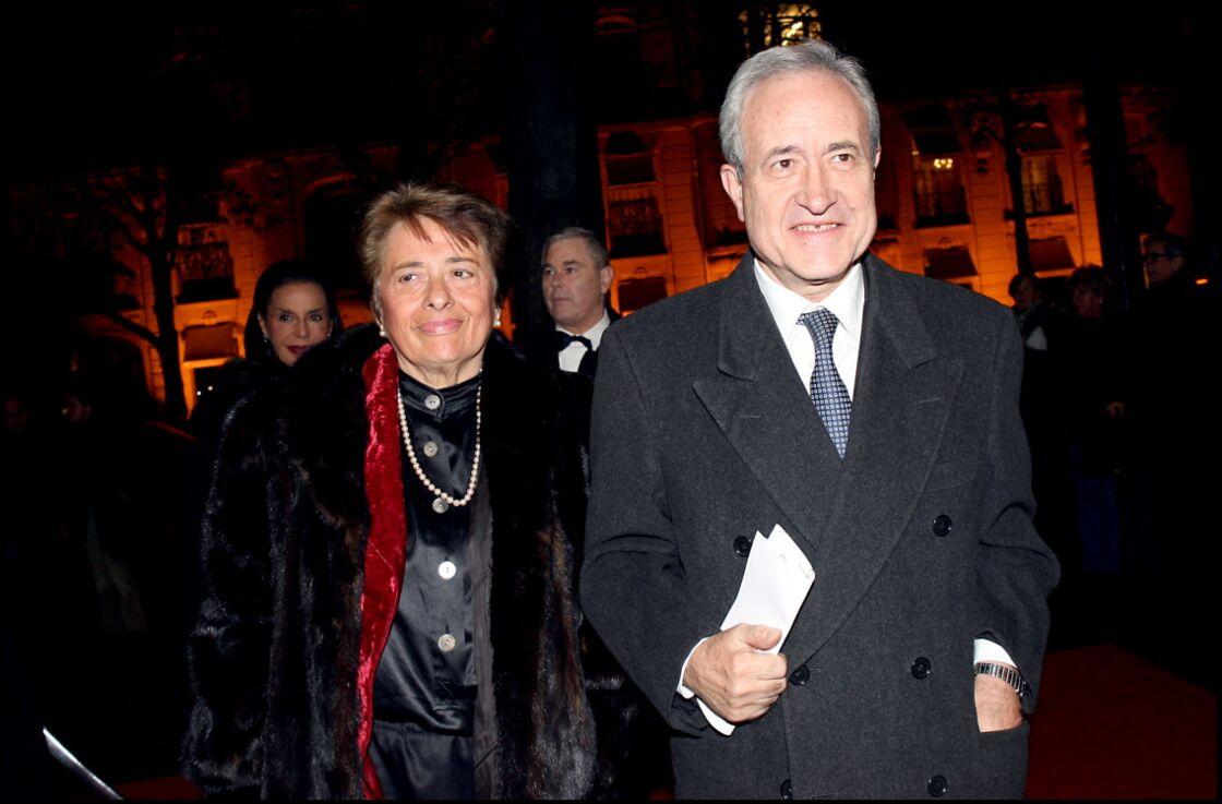 Jean Tiberi et son épouse Xavière, à Paris, en 2006.