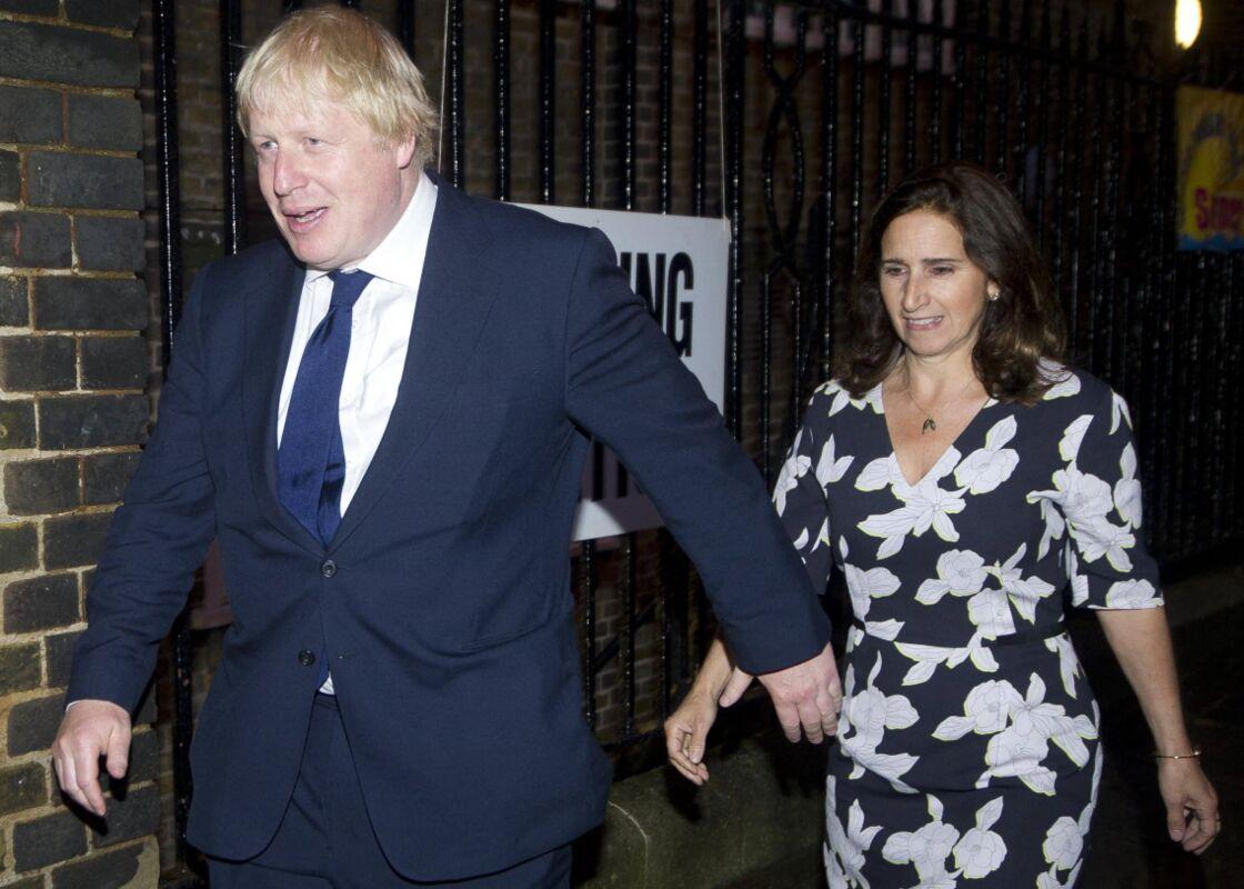 Boris Johnson et son ex-femme, Marina Wheeler, juste avant le référendum pour le Brexit.