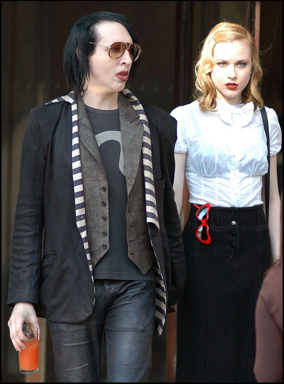 Marilyn Manson et Evan Rachel en 2007