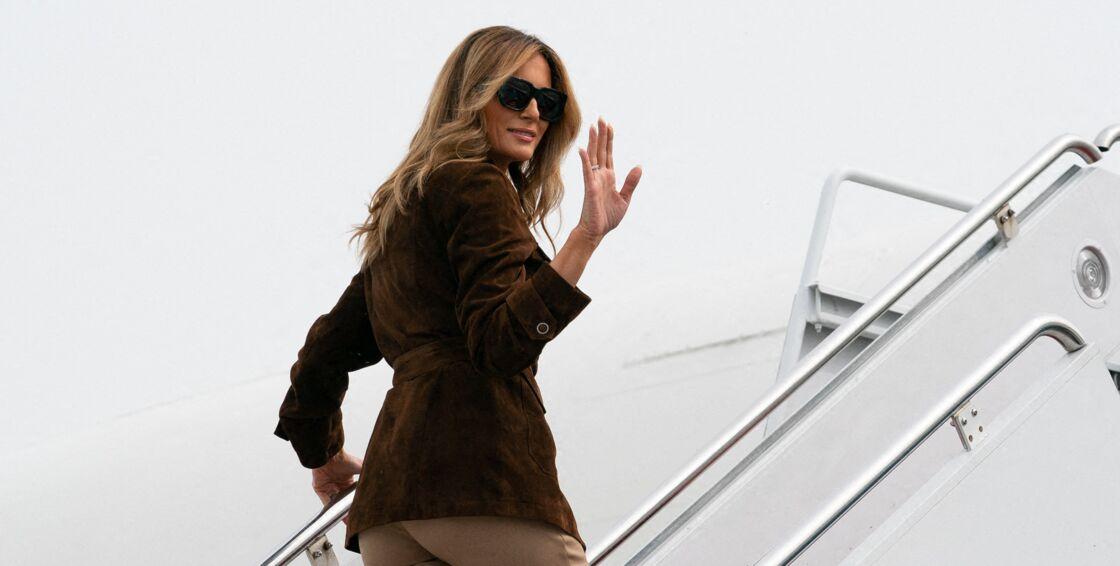 Melania Trump, s'apprêtant à prendre l'avion le 17 septembre 2020.