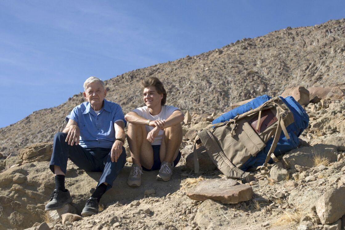 L'acteur Hal Holbrook avec Emile Hirsch sur le tournage du film Into the Wild en 2007.