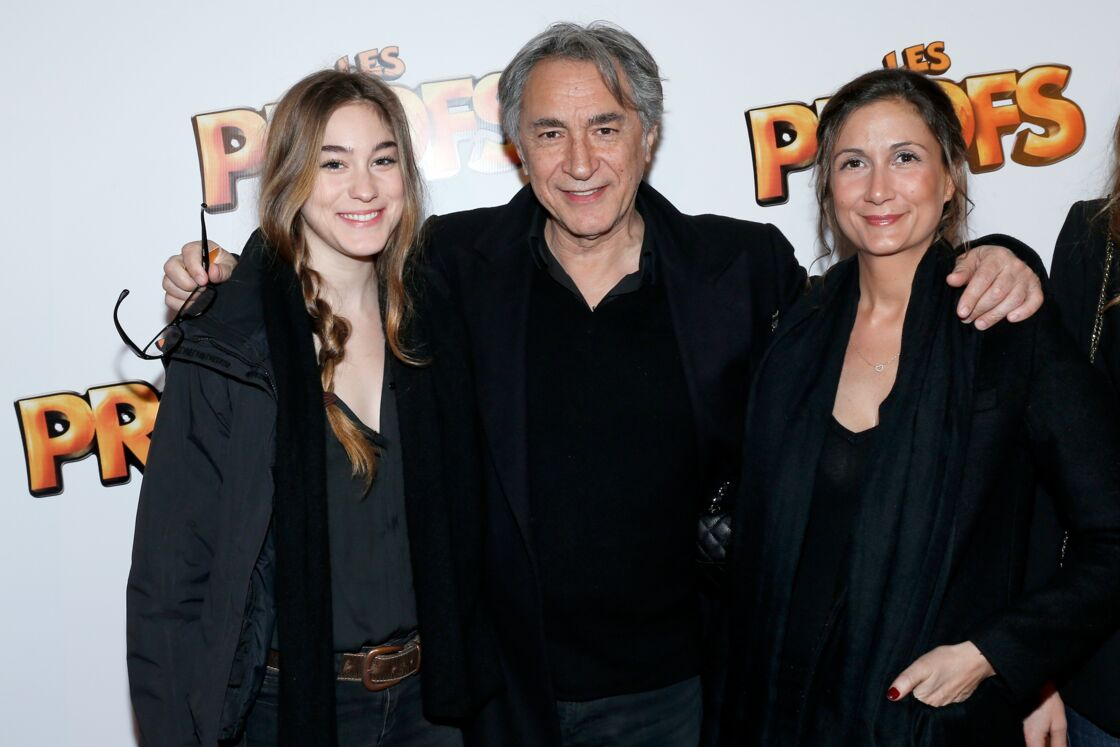 Richard Berry est papa de trois filles : Joséphine (ici à gauche), Coline (à droite sur la photo) et la petite dernière, Mila, née en 2014.