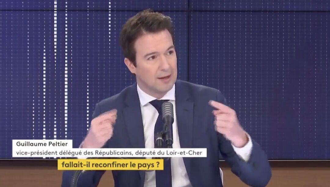 Guillaume Peltier, sur franceinfo, ce mercredi 3 février 2021.
