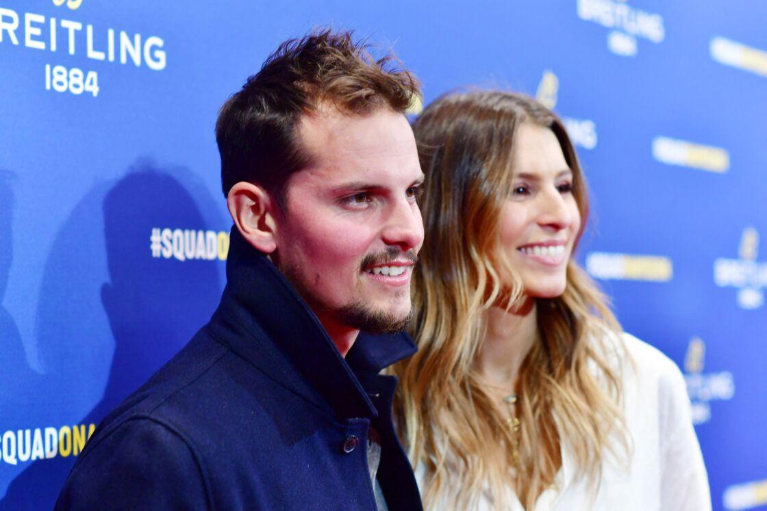 Laury Thilleman (Miss France 2011) et son fiancé Juan Arbelaez lors de la soirée de réouverture de la boutique